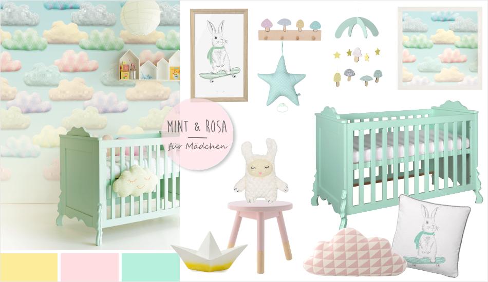 Babyzimmer In Pastell Gelb Rosa Mint Babyzimmer Baby