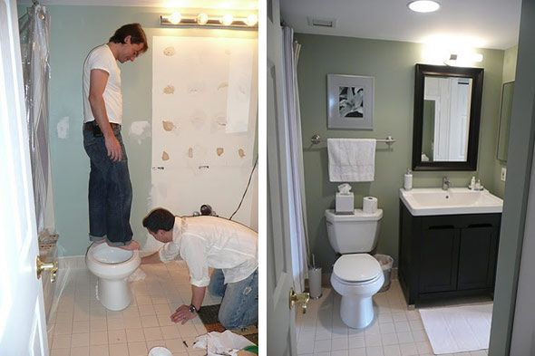 DIY Before And After Bathroom For Under Notes From A - How to renovate a bathroom diy