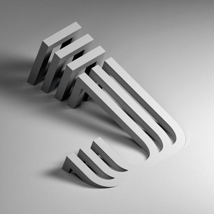 Alphabet: Creative Typography by Serafim Mendes #3dtypography