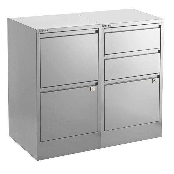 Bisley Silver 2 3 Drawer Locking Filing Cabinets Filing