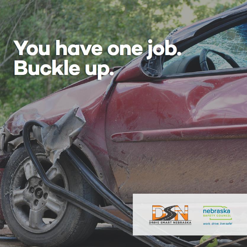 Gas pump topper Nebraska Safety Council Drive Smart