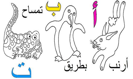 بطاقات الحروف العربية للتلوين من الألف إلى الياء جاهزة للطباعة للاطفال Alphabet Coloring Pages Arabic Alphabet For Kids Arabic Alphabet