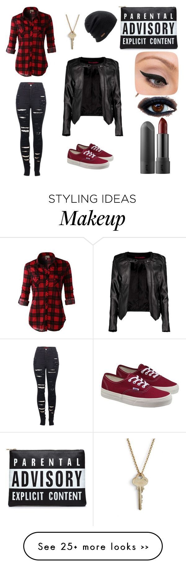 """Untitled #1"" by xxovercastkidxx on Polyvore featuring Boohoo, LE3NO, 2LUV, Vans, The Giving Keys, LORAC and Coal"
