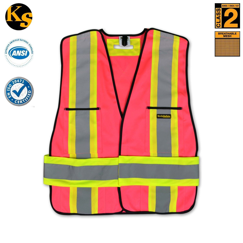 Hi vis reflective breakaway pink safety vest model no