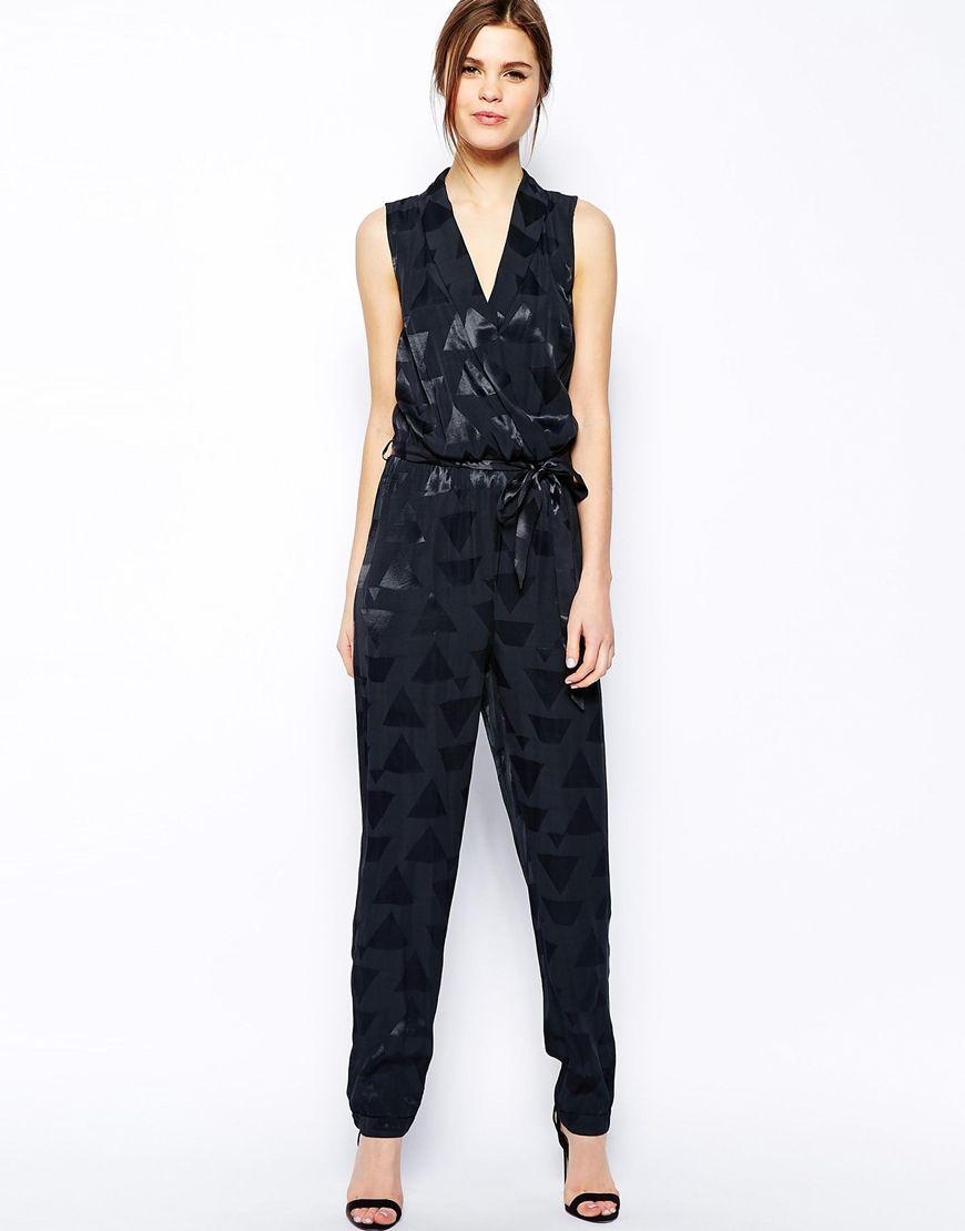 ffae27fb07c4 Warehouse Soft Jacquard Jumpsuit