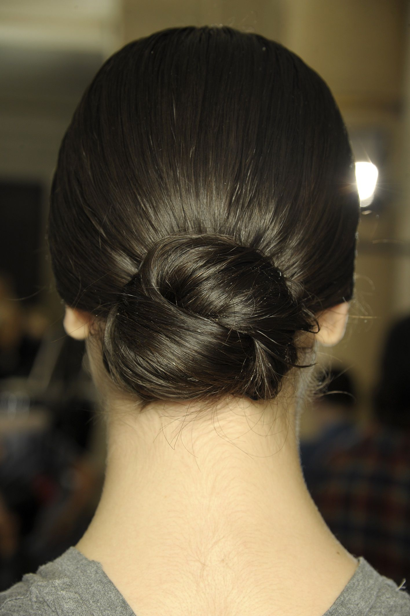 The Low Bun. Perfect For Gals With Shoulder-length Hair