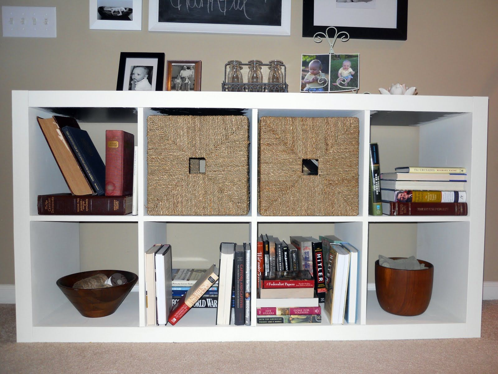 Ikea Expedit Chalk Paint Painting An Expedit With Chalk Paint Diy Ideas Pinterest