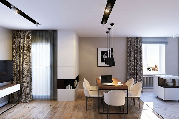 Modern Contemporary Apartment in Russia Uses Natural Materials