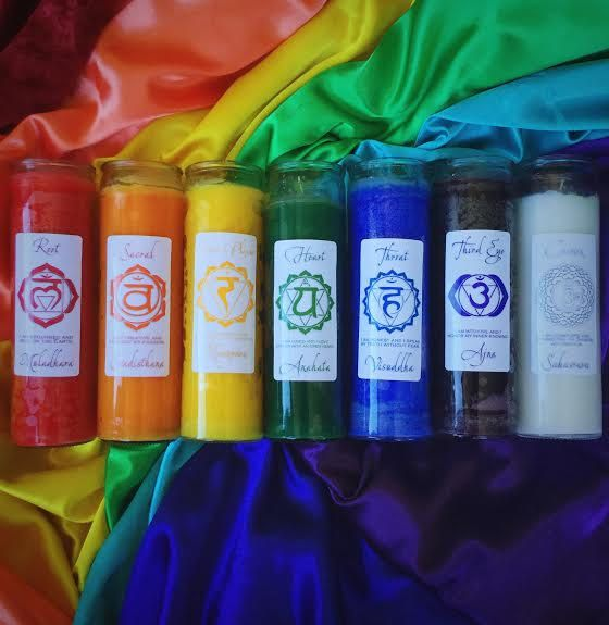 Chakra Jar Candles For Opening And Aligning Each Of Your Seven