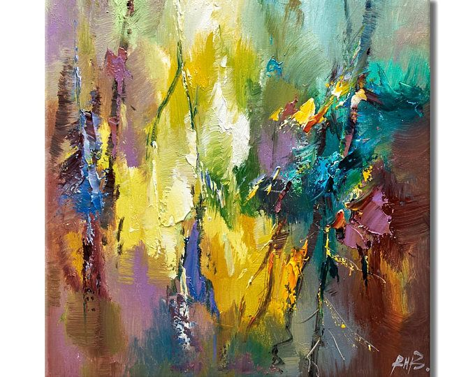 contemporary wall art,, Modern Textured Painting,Impasto Landscape ...