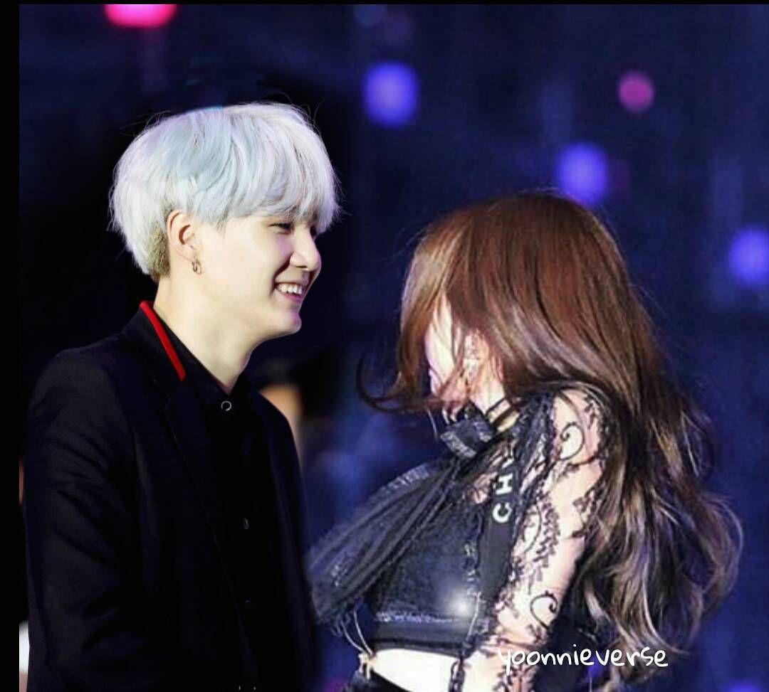 Yoonnie On The Stage Jennie Teased Yoongi Gummy Smiled And He Returned A Gummy Smile Too Yoonnie Btsblackpink Blackpinkbts Blackbang Selebritas Wanita