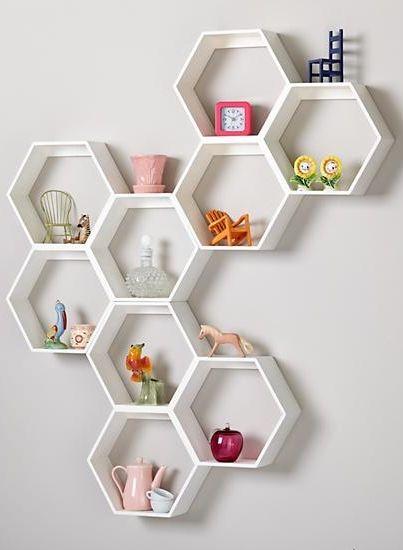 Honeycomb White Hexagon Shelf Storage And Organization Pinterest