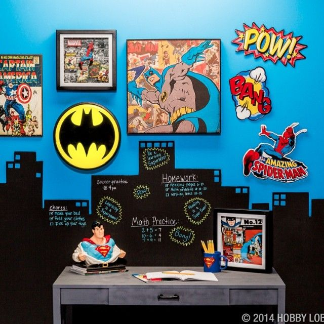 Chambre Jumeaux: Get Motivated With #superhero Style!