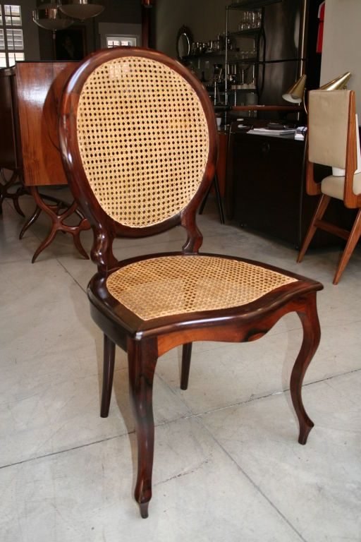 Set Of 1940s Brazilian Jacaranda Medallion Cane Dining Chairs Dining Room Chairs Modern Dining Chairs Chair