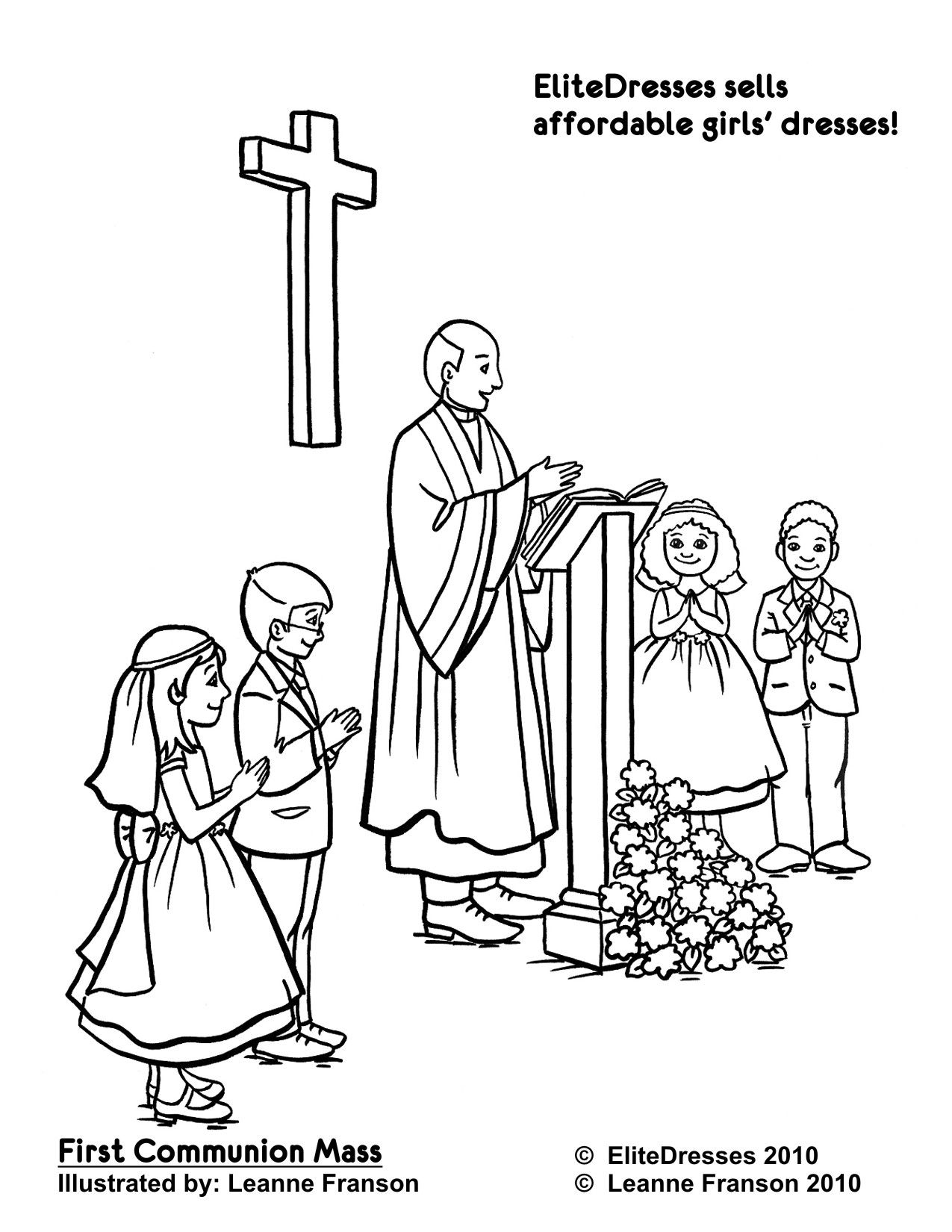 First Communion Mass Page To Colour Communion Coloring Pages