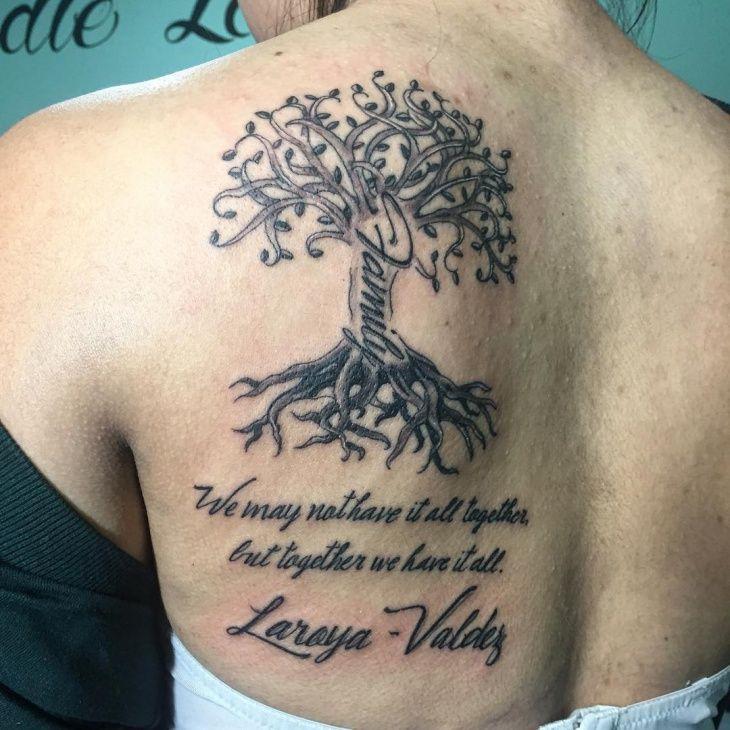 Family Tree Tattoo Design On Back Tree Tattoos Tattoos Back