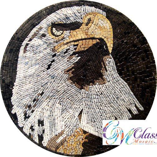 An035 Marble Mosaic American Eagle Tile
