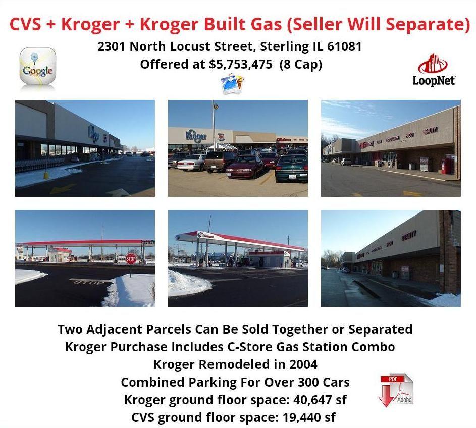 Cvs Kroger Kroger Built Gas Station And C Store In Sterling Il