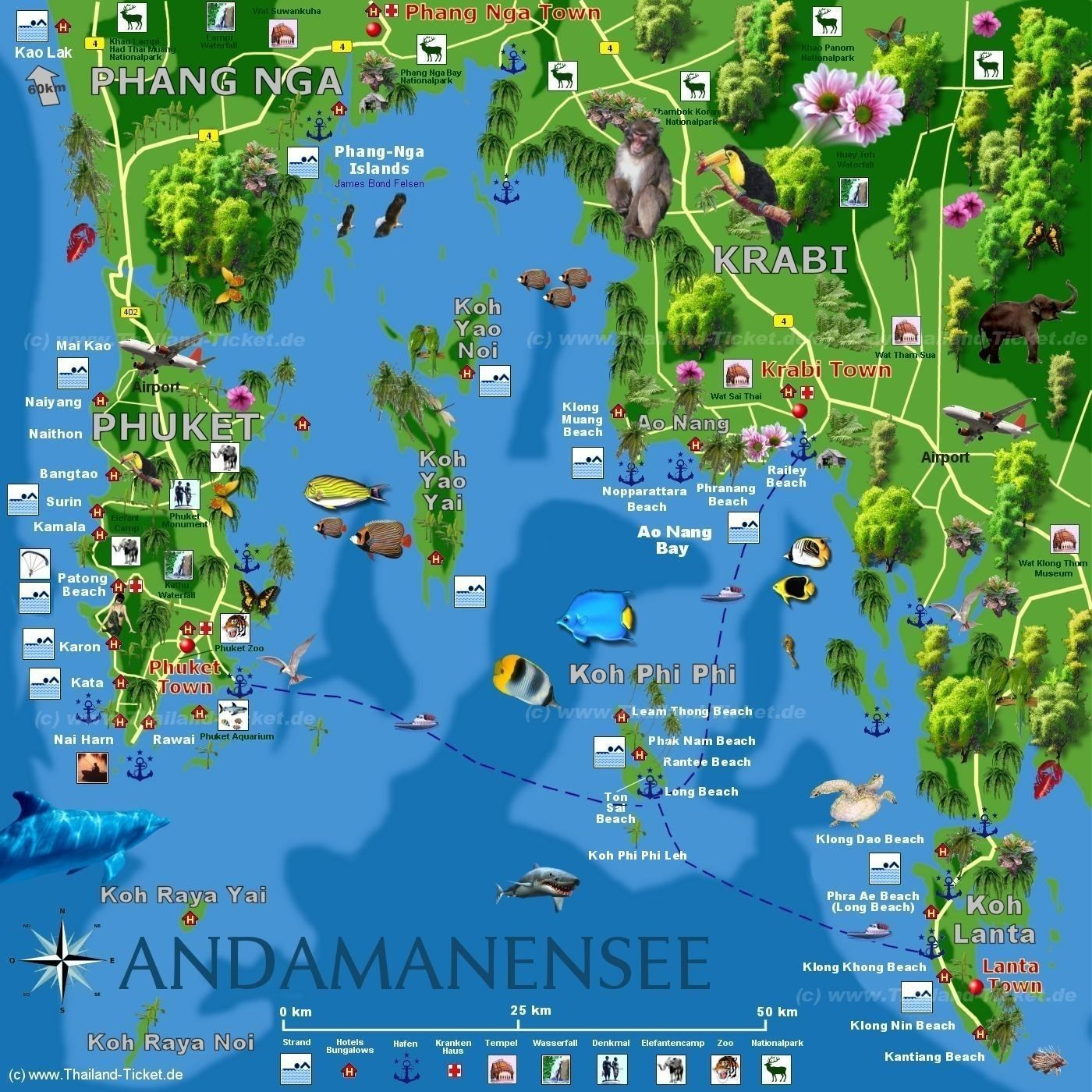 Carte Thailande Phuket Krabi.Krabi Koh Phi Phi Map Travel Bucket List In 2019