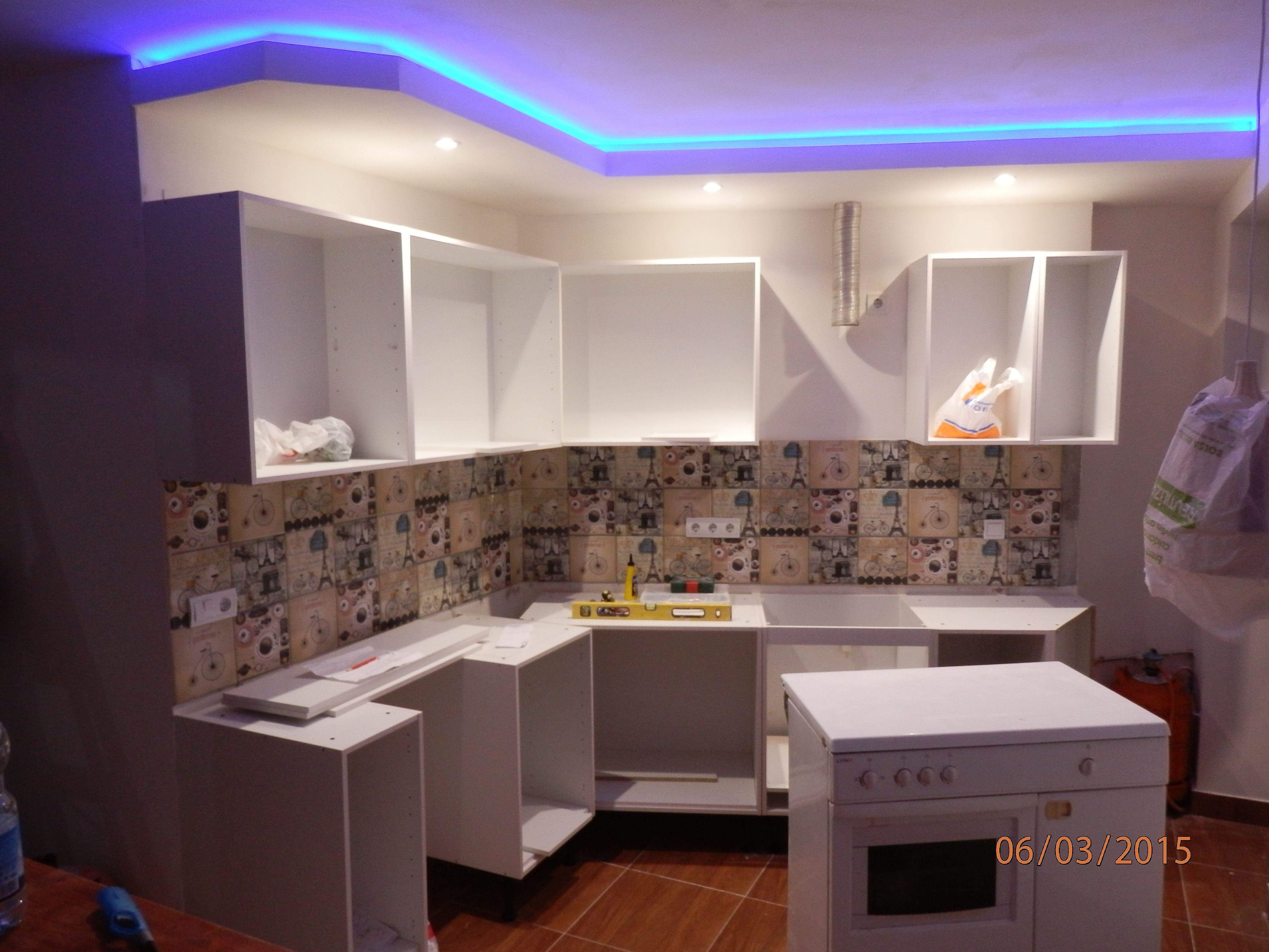 Como Arreglar Las Paredes Y Techos Con Pladur Para La Casa  ~ Paneles Para Cubrir Azulejos Cocina