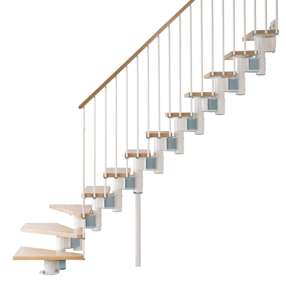 Best Arke Kompact 35 In White Modular Staircase L Kit In 400 x 300