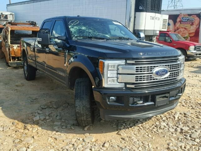 Salvage 2017 Ford F350 Platinum Pickup For Sale Salvage Title