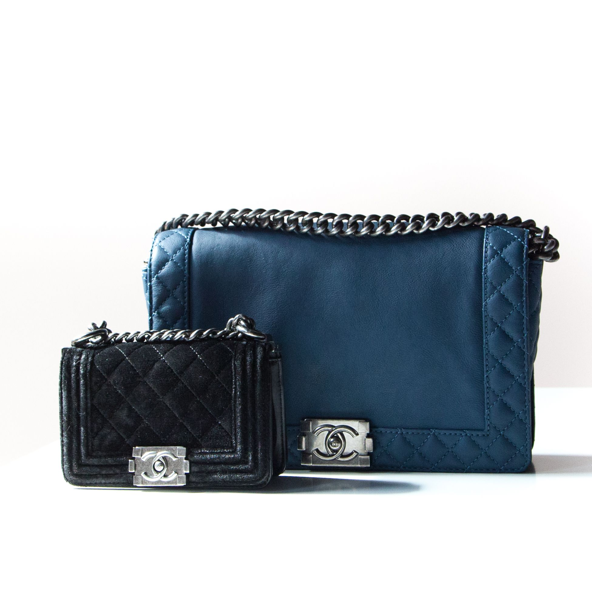Chanel Boy Bags These Two Pre Owned Bags Are At Great Prices At Lovethatbag Ca Chanel Handbags Chanel Bag