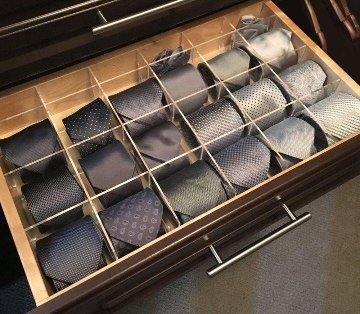 Orderly Drawer Cubby Grid Tie Drawer Organizer Cubby