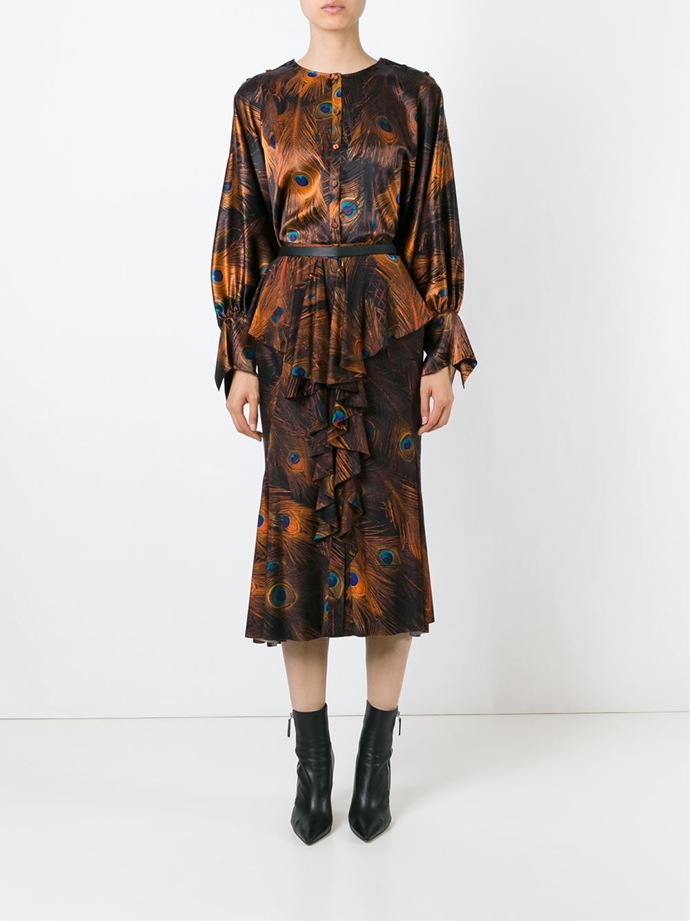 Women - Givenchy Peacock Feather Print Blouse - Tessabit.com – Luxury Fashion For Men and Women: Shipping Worldwide