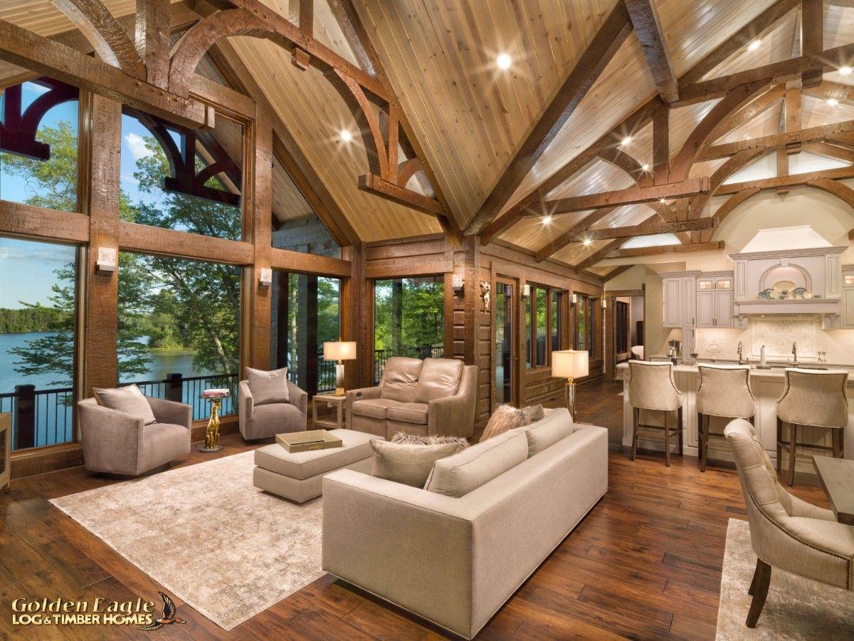 Timber Lake 2779AR-UCT Plan - Large Timber Beam Living Room