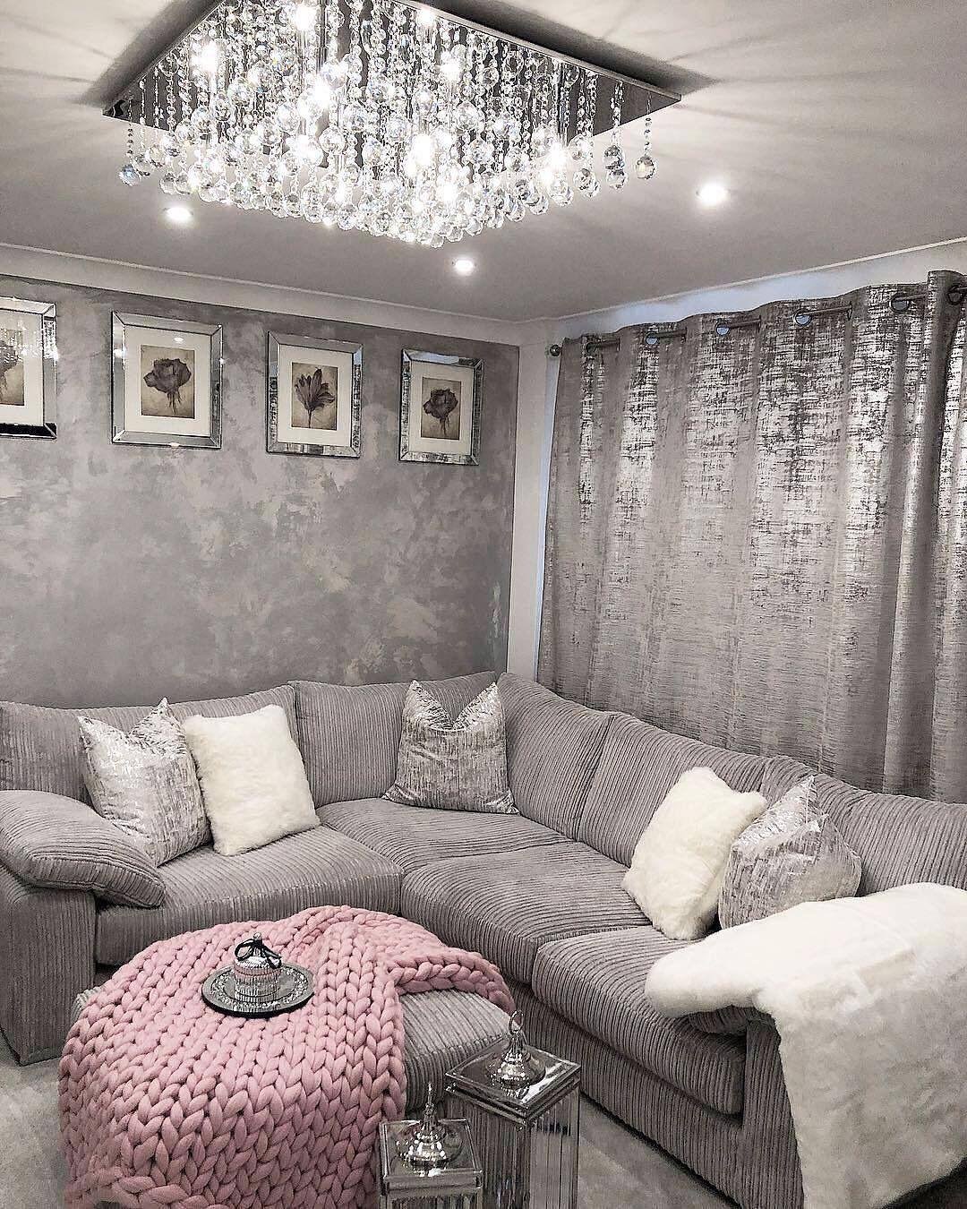pinterest: @ nandeezy † | Glam living room, Home living ...