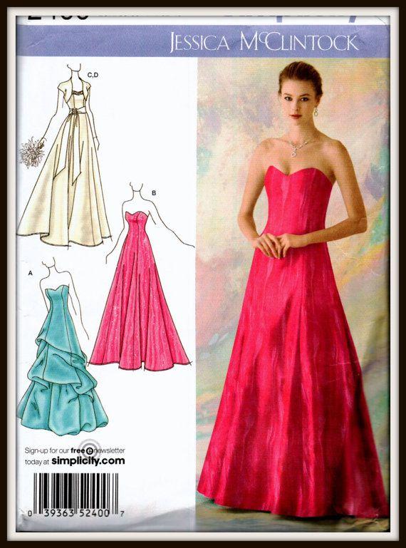 Simplicity 2400 Jessica McClintock Size (4-6-8-10-12) UNCUT
