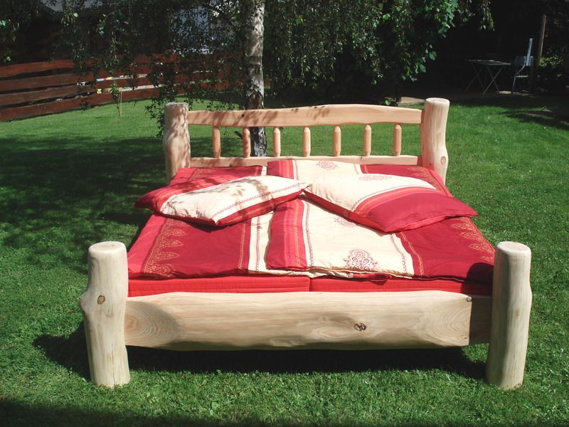 doppelbett massivholzbett balkenbett baumstamm pinterest rustikale m bel rustikal und dawanda. Black Bedroom Furniture Sets. Home Design Ideas