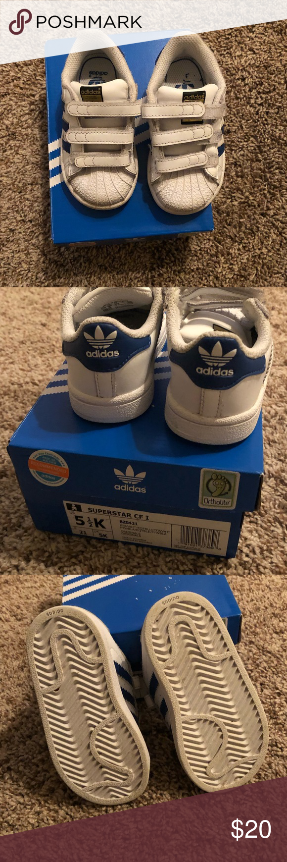Adidas superstar baby boy shoes size 5.5 | Boy shoes, Baby ...