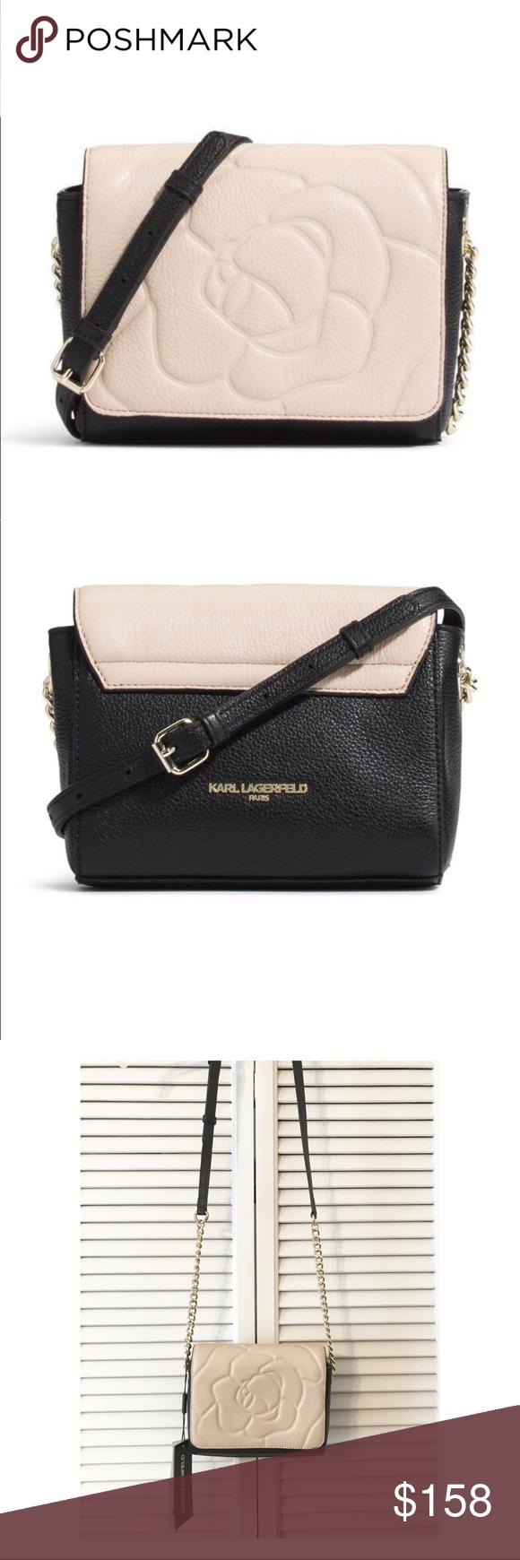 90a01da86cd071 🎉SALE🎉KARL LAGERFELD PARIS Crossbody KARL LAGERFELD PARIS Flora Leather  Crossbody Bag NWT Leather
