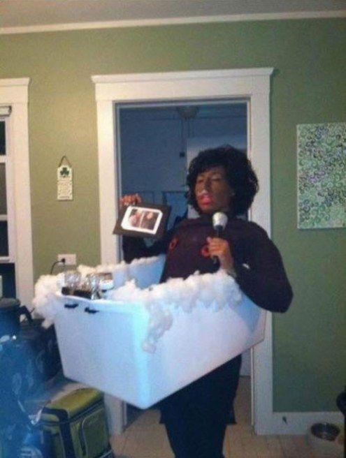 Whitney Houston In Bathtub
