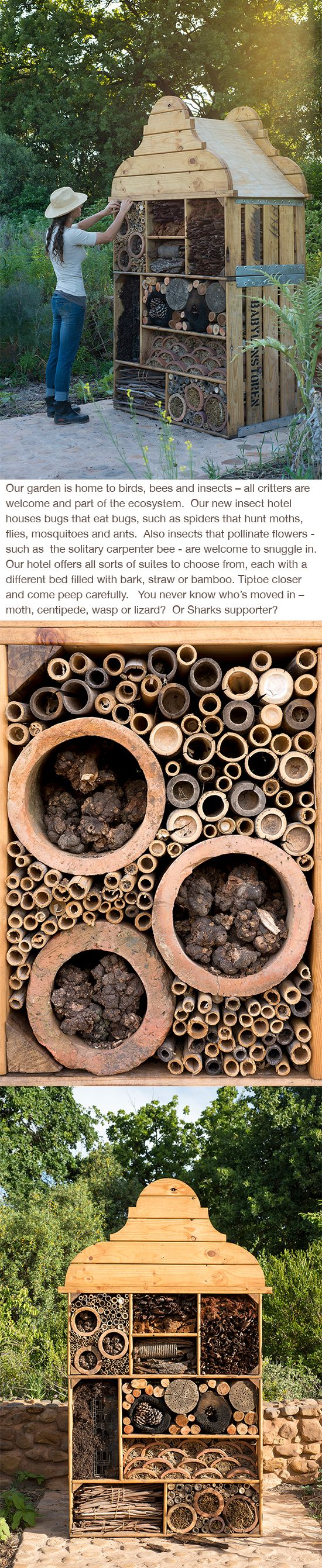 Insect hotel @ Babylonstoren, I want to see the garden that these bees pollinate!