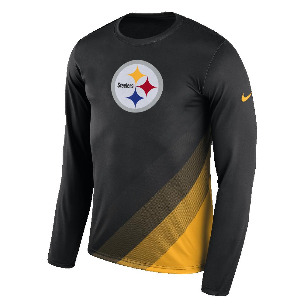 e8d8b556d723 Nike Dry Legend Prism (NFL Steelers) Men s Long Sleeve T-Shirt Size ...
