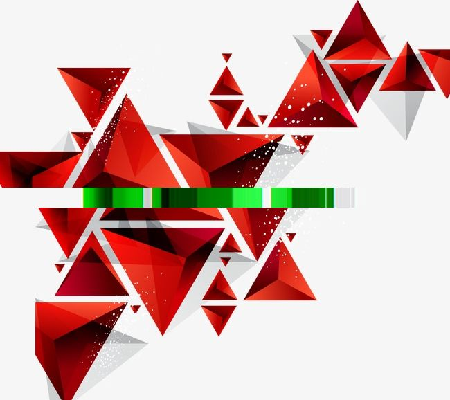 Colorful Geometric Red Geometric Creative Graphics Bright Png