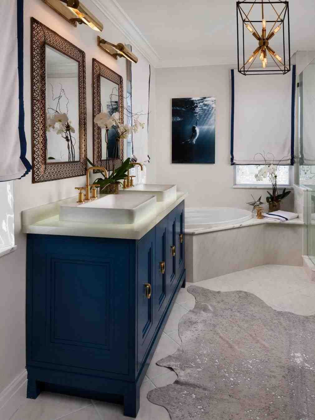 Navy Blue And Gold Bathroom Accessories Navy Bathroom Blue Bathroom Vanity Blue Bathroom Decor