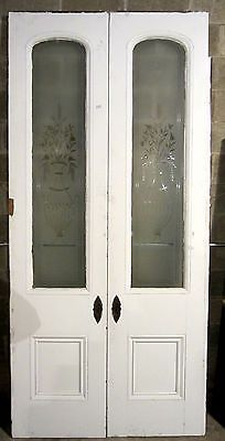 Great set antique pocket doors etched glass panels architectural great set antique pocket doors etched glass panels architectural salvage planetlyrics Gallery