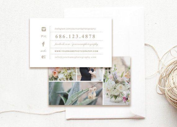 Modern Business Card Design Template Wedding Photographer Moo Cards Digital Photo Templates