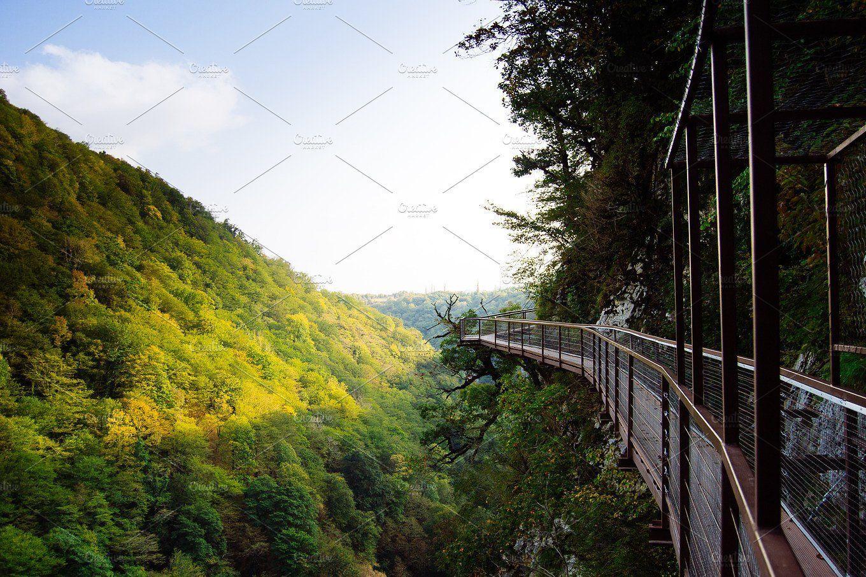 Landscape Mountain Bridge