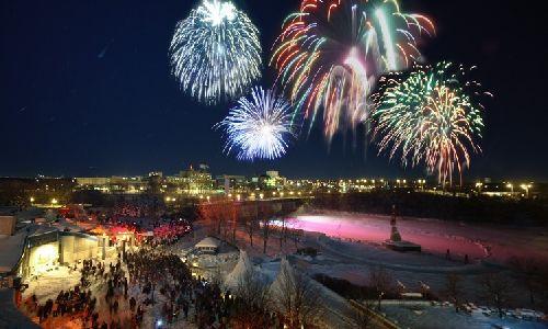 Fireworks at The Forks