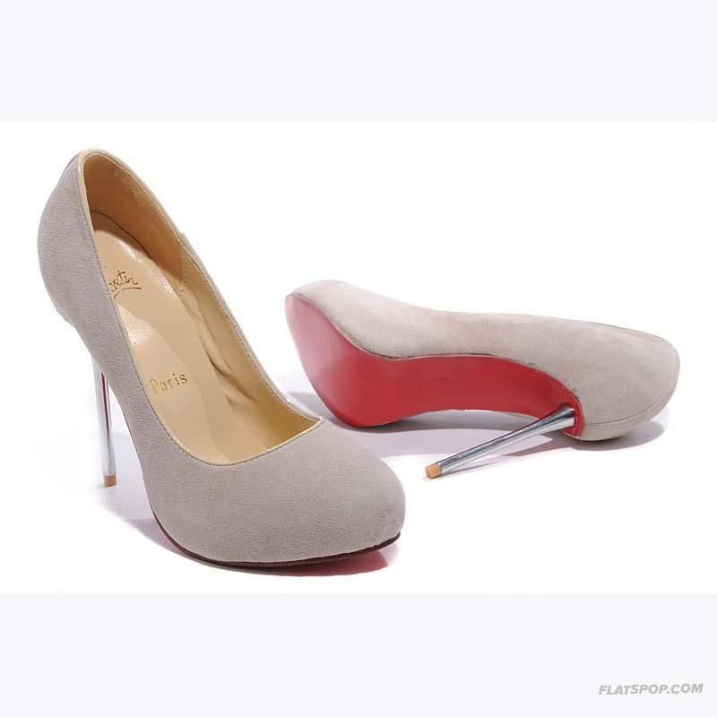 137779a2093 Christian Louboutin dove gray suede stilettos worn for charity ball ...