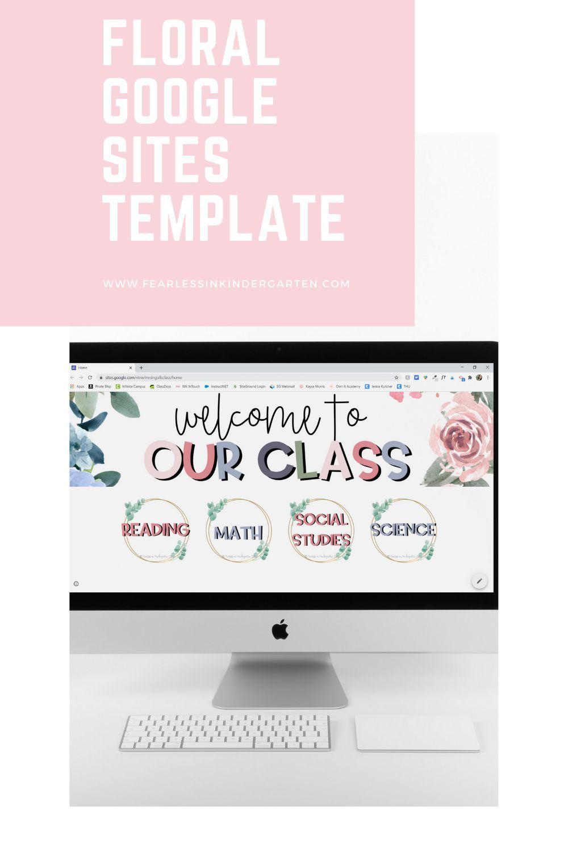 Google Sites Template Floral Google Site Templates Template Site Google Sites