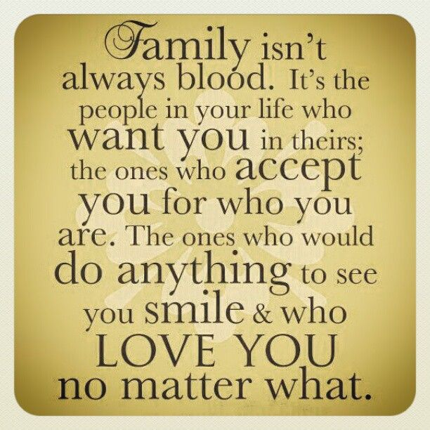 I agree 100%! Great definition of family... my aunts that are my ...