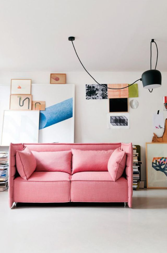 Favorite Pins : Color | Pink sofa, Unique wall decor and Interiors