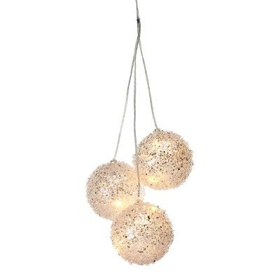 4 Clear Acrylic Led Light Ball Set Of 3 Diy Christmas Ornaments Easy Whimsical Christmas Decor Ball Lights