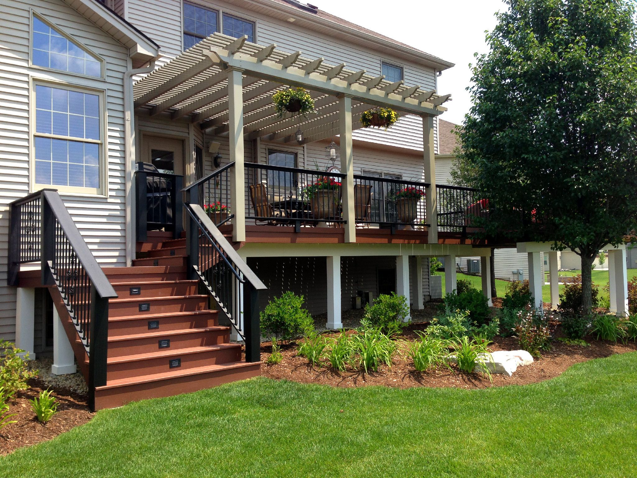 Timbertech And Azek Deck With Pergola By Suburb Of Chicago